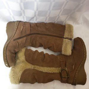 Brown Leather Upper Boots ~ Size 6